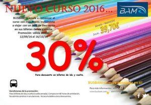 Promoción 30% Nuevo Curso 2016